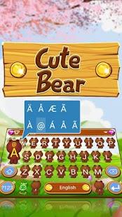 Cute Bear Theme&Emoji Keyboard - náhled
