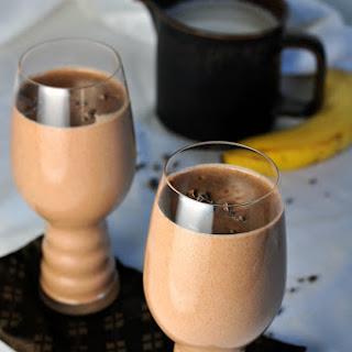 Chocolate Almond Smoothie.