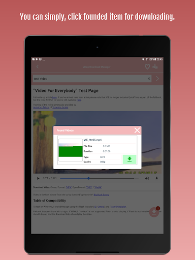 Video Download Manager 1.0.6 screenshots 7
