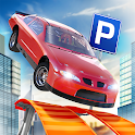 Roof Jumping Car Parking Games icon