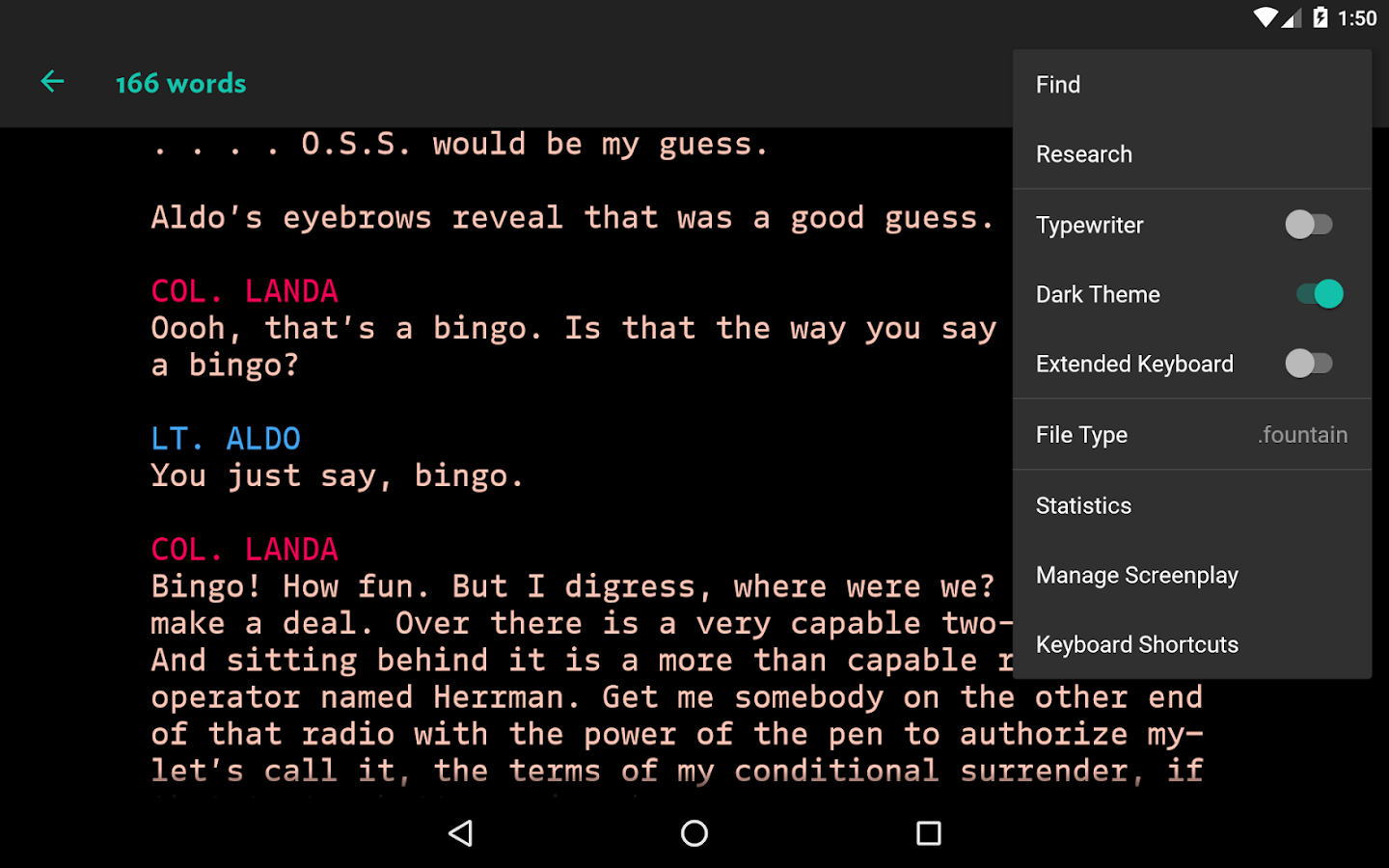 JotterPad - Writer, Screenplay, Novel- screenshot