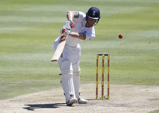 England's Ben Stokes plays a shot. Picture: REUTERS