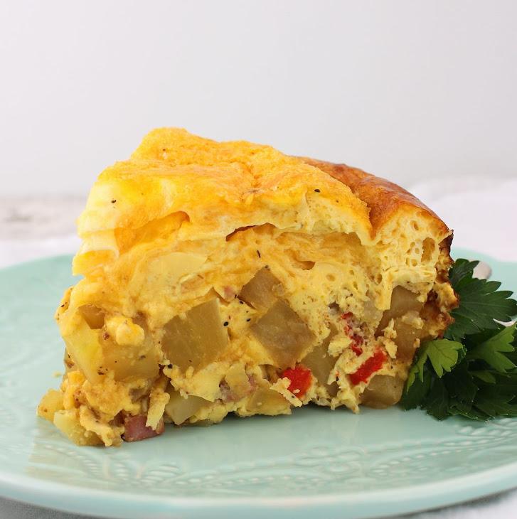 Potato, Ham and Cheese Breakfast Casserole #RSC