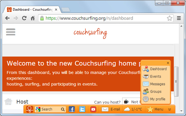 Gate to Couchsurfing