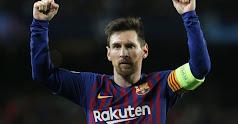 Messi celebrando el primer gol del Barcelona.