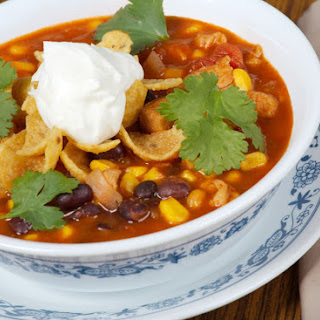 Vegetarian Taco Soup in the Crockpot (With Vegan Option).