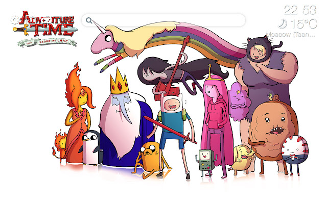 Adventure time HD new free tab theme