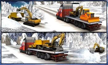 Winter Snow Rescue Excavator - screenshot thumbnail 05