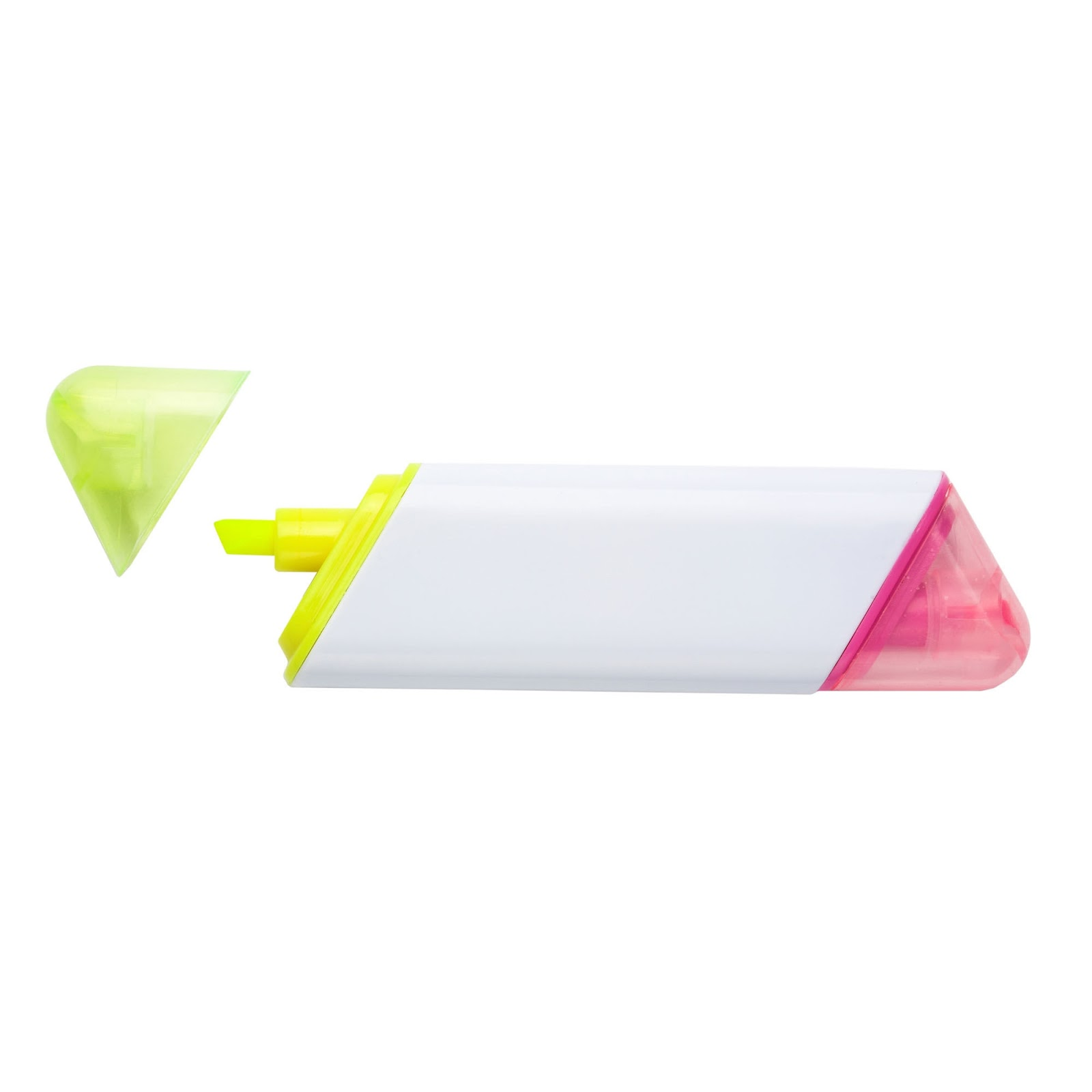 Double Ended Pink and Yellow Highlighter Pen