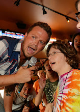 Photo: NASHVILLE, TN - JUNE 26:  Stephen Baker Liles of Country/Rock group, Love and Theft enjoy Karaoke with campers during the ACM Lifting Lives Music Camp - Karaoke with Love and Theft at Winners on June 26, 2013 in Nashville, Tennessee.  (Photo by Rick Diamond/Getty Images for ACM)