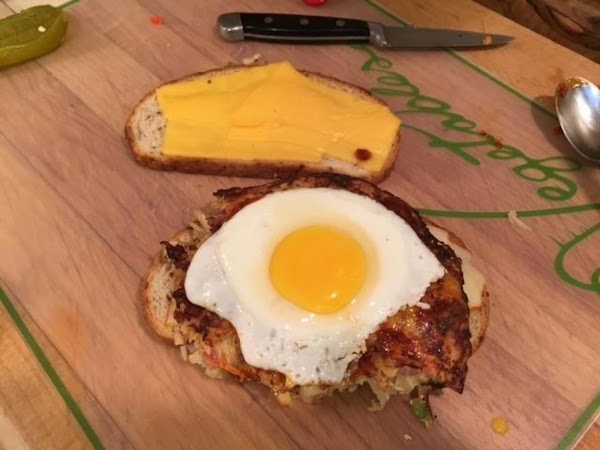 In a non-stick frying pan over medium heat, melt 2 tablespoons of the butter...