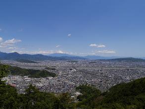 朝鮮岩から富士山方面