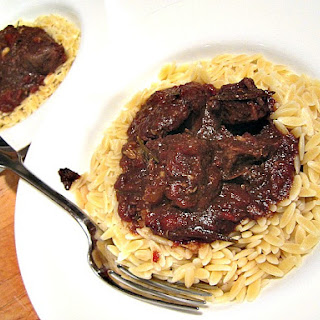 Oven Braised Beef w/ Tomatoes & Garlic (3 ingredients only)