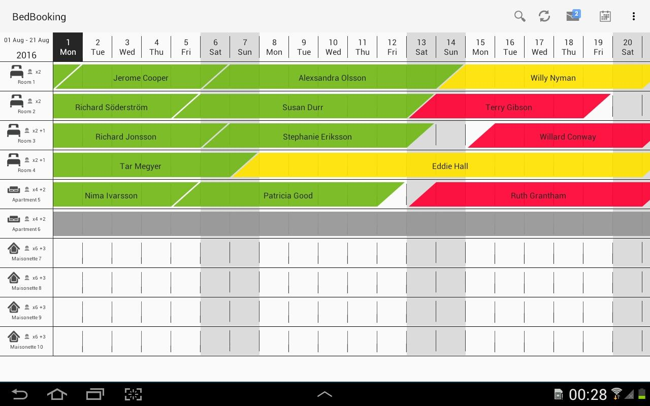 Booking Manager Reservation Calendar - B&B, Hotels- screenshot