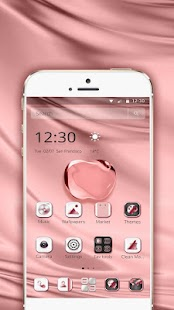 Pink Apple Crystal Theme - náhled