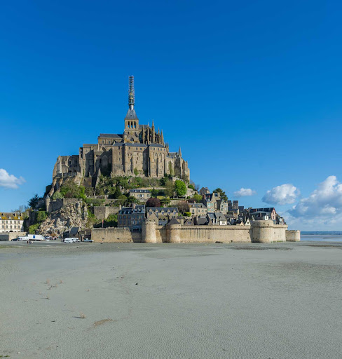 Wander the alleys of Mont Saint Michel, a landmark that dates to the 8th century.