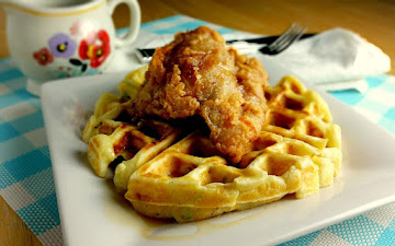 Chicken And Potato Waffles Recipe