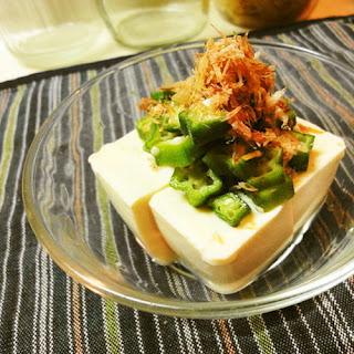 Okra and Umeboshi Cold Tofu *