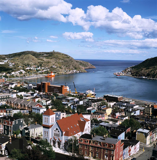 aerial-downtown-st-johns.jpg - Aerial view of downtown St. John's, capital of Newfoundland and Labrador.