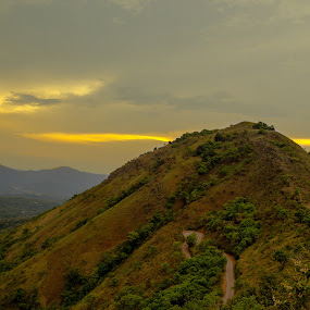 beauty of nature with lights... by Kiran Ark - Landscapes Mountains & Hills ( hills, nature, road, natural, light,  )
