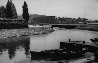 Photo: Ultima ponte do río Gafos, aquí xa se desviou o río