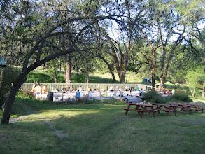 Photo: Yoga Farm, CA - yoga on deck