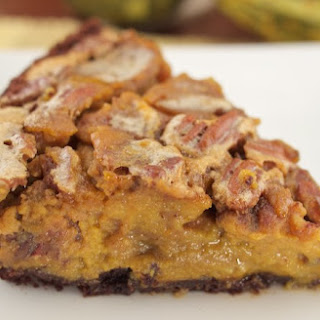 All-In-One Chocolate Pumpkin Pecan Pie!