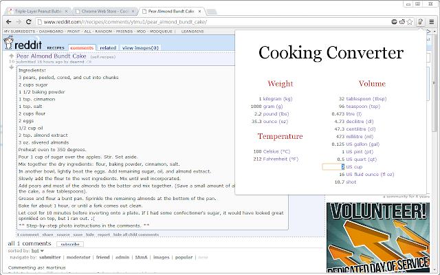 Cooking Converter