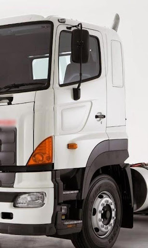 배경 화면 히노 트럭 700