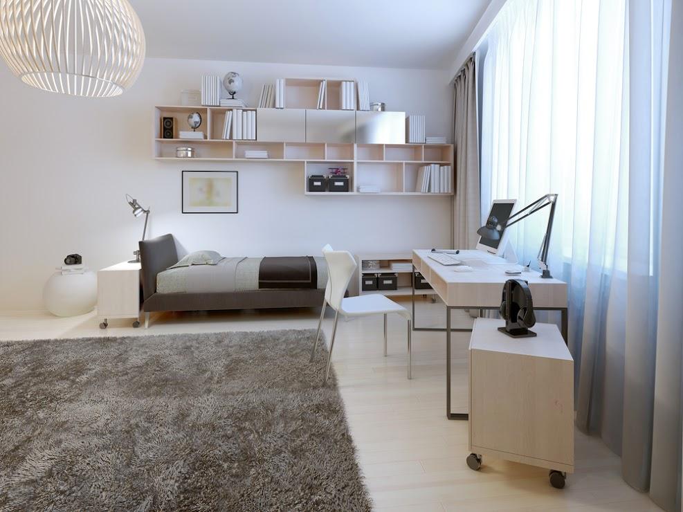 dormitorio juvenil colores neutro