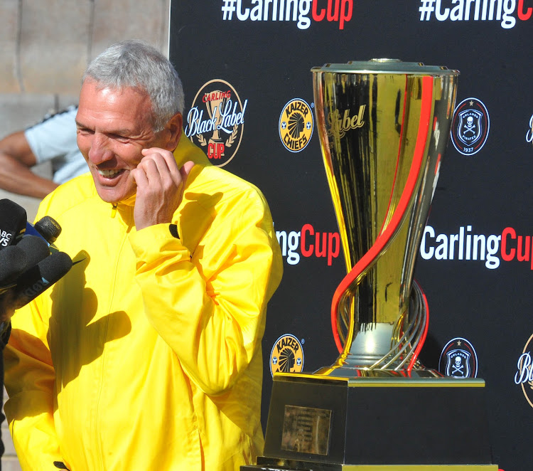 Kaizer Chiefs German coach Ernst Middendorp is under massive pressure to deliver silverware.