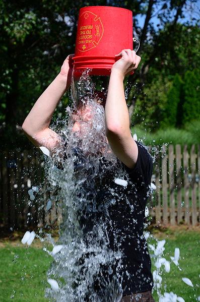 ice bucket challenge to raise awareness for ALS