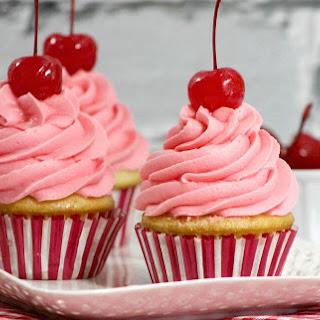 Cherry Vanilla Cupcakes Canada Day
