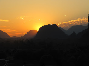 Photo: Day 303 - Sunset Over Vang Vieng #1