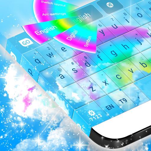 무지개 색 키보드 를 GO 個人化 App LOGO-硬是要APP