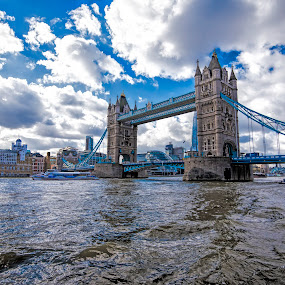 Tower Bridge in London by Pravine Chester - Buildings & Architecture Bridges & Suspended Structures ( photograph, london, tower bridge, bridge, architecture, river thames, river )