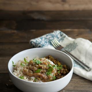 Curried Lentils and Rhubarb Chutney Recipe