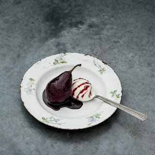 Beet-and-Wine-Infused Poached Pears