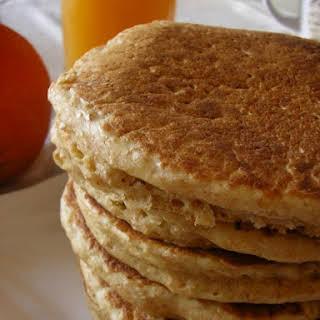Eggless Orange Pancakes.