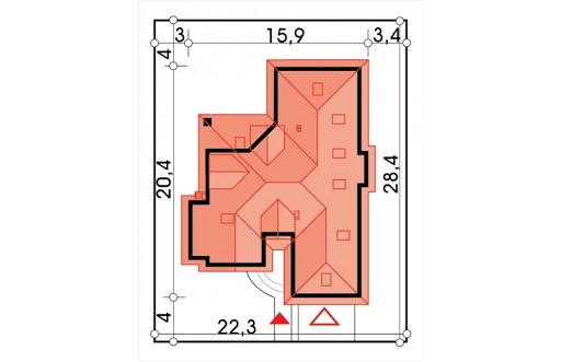 Lawenda energo+ wersja B z piwnicą - Sytuacja