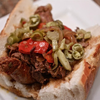 Slow-Cooker Chicago-Style Italian Beef and Sausage Combos.