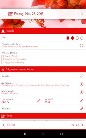 android Perioden-Tagebuch - Kalender Screenshot 9
