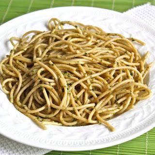 Whole Wheat Spaghetti With Caper Pesto