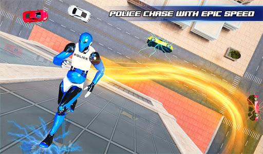 Grand Police Robot Speed Hero City Cop Robot Games 4.0.0 screenshots 9