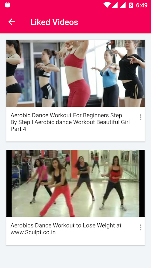 Aerobics Exercise Training Videos of Fitness Dance ...