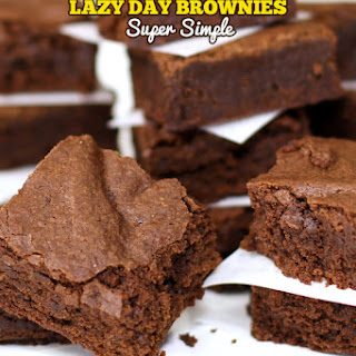 25 Minute Lazy Day Blue Ribbon Brownies.