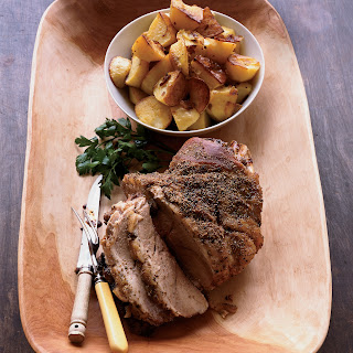 Roast Pork Shoulder with Fennel and Potatoes.