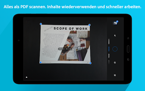 Adobe Scan: PDF-Scanner, OCR Screenshot
