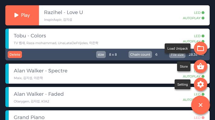 UniPad - launchpad - screenshot
