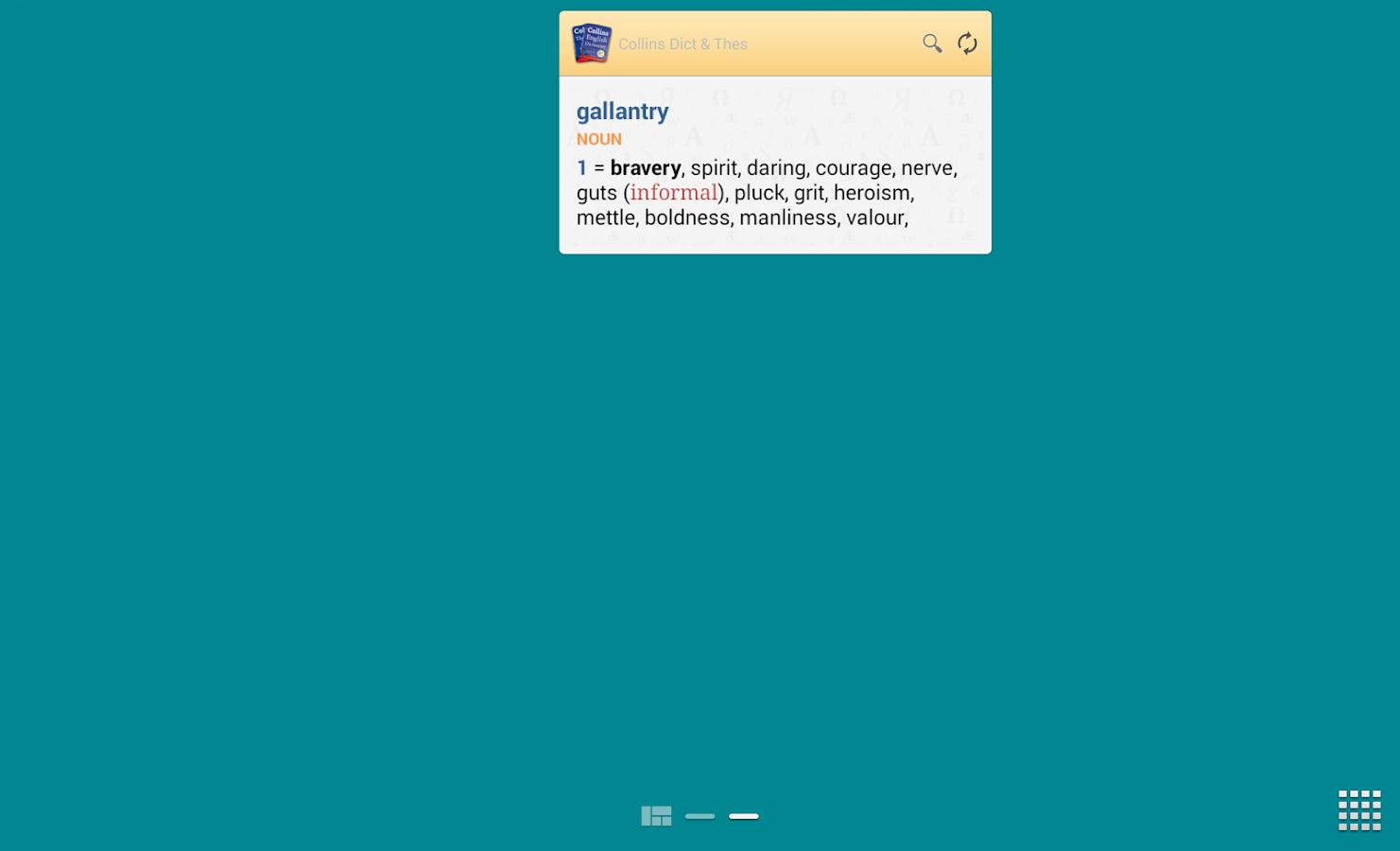 Collins English and Thesaurus - screenshot